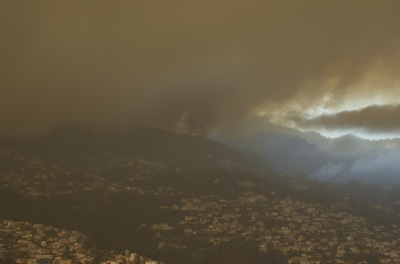 Funchal fire cloud, Madeira